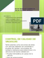 Control de Calidad de Valvulas y Equipo de Bombeo