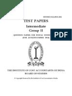 ICWAI Intermediate Group II Test Papers