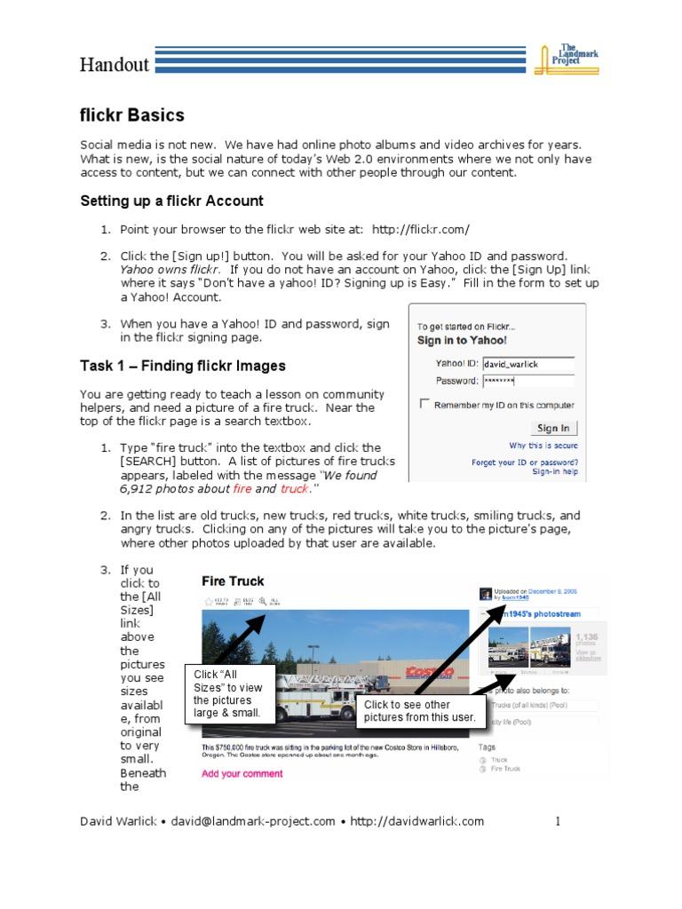 flickr setup | Tag (Metadata) | Yahoo!