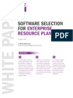 Software Selection for Enterprise Resource Planning Whitepaper