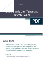 Etika Bisnis Dan Tanggung Jawab Sosial