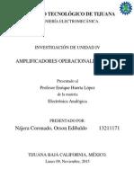 Amplificadores Operacionales - Electrónica Analógica