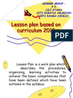 Lesson PLan Based on Curriculum2013