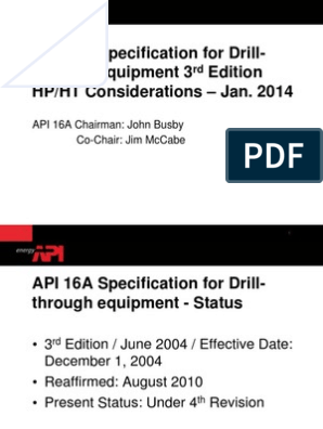 API 16A Guidelines