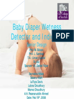 Baby Diaper Wetness Detector and Indicator
