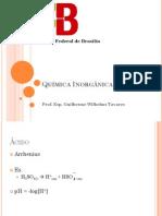 Quimica Inorganica 3 -  Aula 4 Acido Base