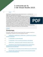 Problemas Comunes en La Instalación de Visual Studio 2015