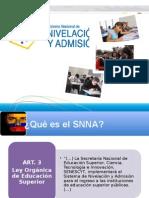 SNNA sistema de admisión a la educación superior