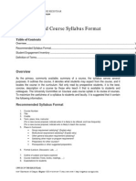 Uo Course Syllabus Template