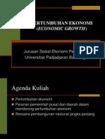 Kuliah 14_Pertumbuhan Ekonomi & Pembangunan Ekonomi