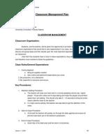 classroom management plan 2015