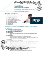 learning disability handout