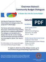 Chairmans Budget Dialogue