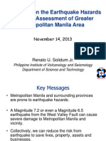 Solidum Update of Earthquake Hazards and Risk Assessment of MMla 14Nov2013