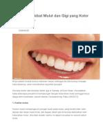 5 Penyakit Akibat Mulut Dan Gigi Yang Kotor