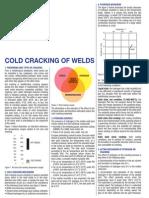 Cold Cracking of Welds Sodel