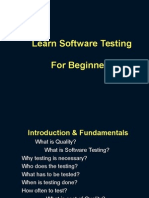 Learn Soft Testing for Beginners