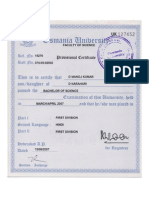 Bsc Provisional