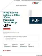 Wrap & Move 500mm x 280m 50mm Packaging Shrink Wrap _ Bunnings Warehouse