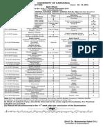 Date Sheet of Ba Bsc 20151