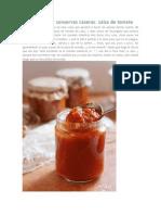 Cómo Elaborar Conservas Caseras - Salsa de Tomate
