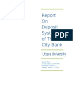 Report on Deposit System of the City Banksd