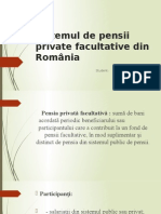SIstemul de pensii private facultative din Romania