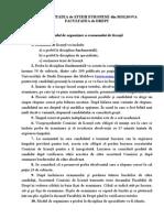 Modul de Organizare a Examenului de Licenta Drept