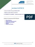Listado Transacciones SaP Hcm