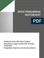 Divisi pengabdian masyarakat