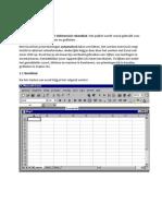 ICT - Workshop Excel 1