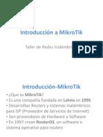 Introduccón a MikroTik