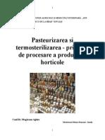 Pasteurizarea Si Termosterilizarea