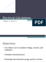 Electrical Calculations Ch 17.3 8th
