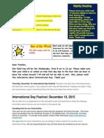 Blog Entry December 6, 2015