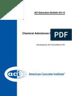 ACI Education Bulletin E4-12.Chemical Admixtures for Concrete