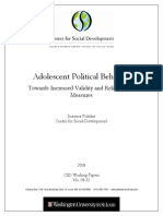 Adolescent Political Behaviour
