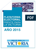 Plataforma Electoral Nacional 2015 FpV