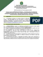 EDITAL PRE No 64-2015_1a Chamada_PRE-MATRICULA_Tec. Seg. No Trabalho_EAD 2015.2 -Via Edital 124-2015