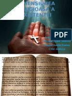 Dimensiunea Religioasa a Existentei