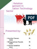 PR of IT sector