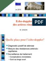 Artères Rénales Echo-doppler - Dr M DADON