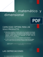 Modelo Matemático y Dimensional