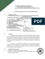 Syllabus de Microbiología y Parasitología y Su Instrumentación- Universidad de Trujillo - 2014 II