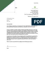 Letter for Permission