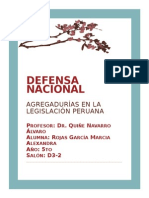 Defensa Nacional Agregadurias