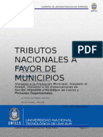 Tributos nacionales a favor de municipalidades