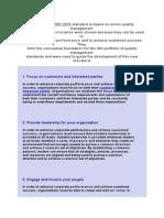 ISO 9001 2015 Principles
