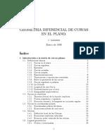 Gemetria diferencial de curvas en el plano