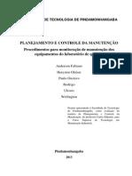 Planejamento e Controle Da Manutenção